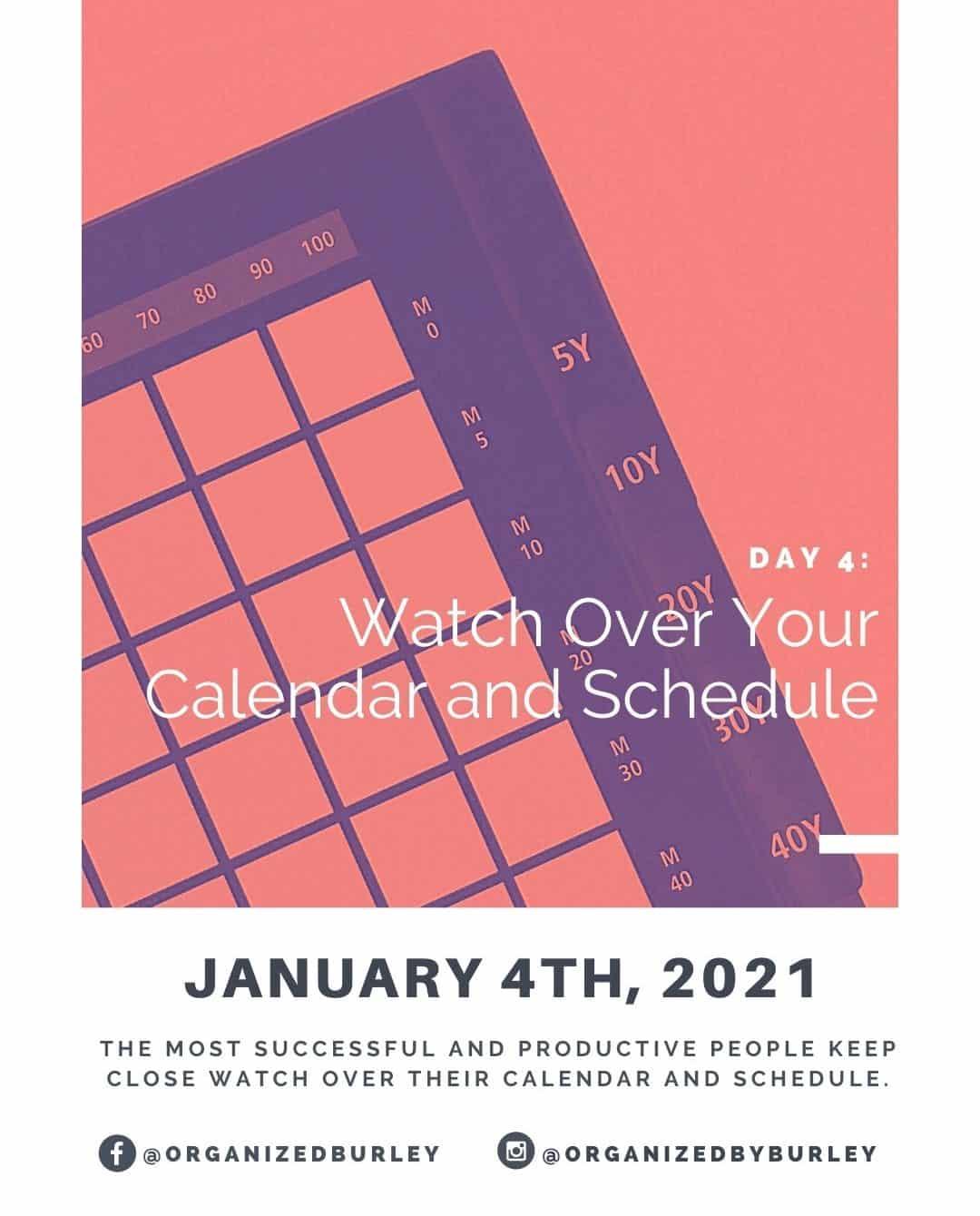 How to organize a calendar