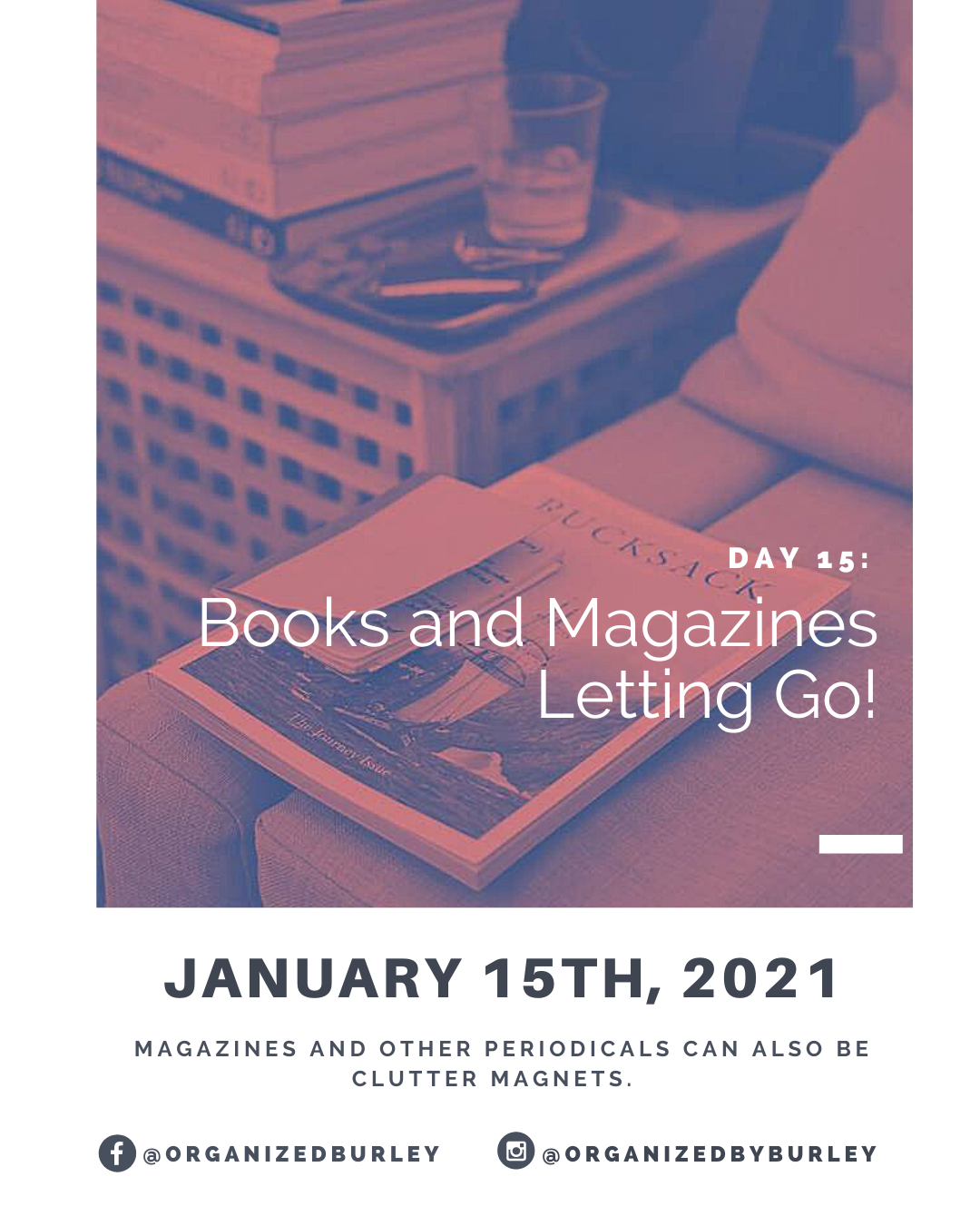 Organize your magazines and books